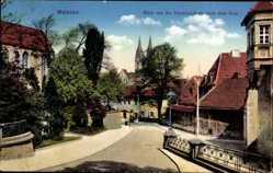 Ansichtskarte / Postkarte Meißen in Sachsen, Blick von der Fürstenschule auf den Dom