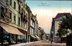 Postcard Worms in Rheinland Pfalz, Die Kaiser Wilhelm Straße mit Geschäften