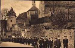 Ansichtskarte / Postkarte Meißen in Sachsen, Kloster St Afra, Nossener Straße, Schüler, Ökonomiehof