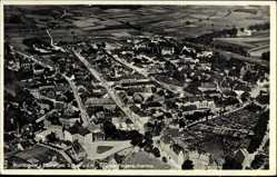 Postcard Wunsiedel im Tal der Röslau Oberfranken, Fliegeraufnahme, Gesamtansicht