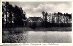 Postcard Zechlinerhütte Rheinsberg in Brandenburg, Jugendherberge am Prebelowsee
