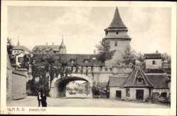 Postcard Ulm an der Donau Baden Württemberg, Blick auf das Zundeltor
