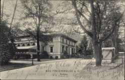 Postcard Bad Freienwalde an der Oder, Blick auf das Kurhaus, Seitenansicht