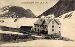 Postcard Geiranger Norwegen, Djupvashytten, Schutzhütte, Gletschermeer