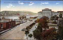 Postcard Budapest Ungarn, Blick auf den Franz Josefsplatz, Kutsche, Häuser