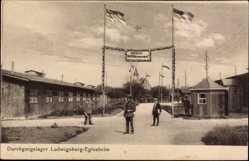Postcard Eglosheim Ludwigsburg in Baden Württemberg, Eingang des Durchgangslager