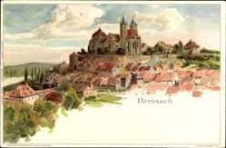 Künstler Litho Biese, C., Breisach am Oberrhein, Ortschaft mit Kirche