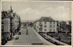 Ansichtskarte / Postkarte Coswig in Sachsen, Partie der Bahnhofstraße, kleiner Turm