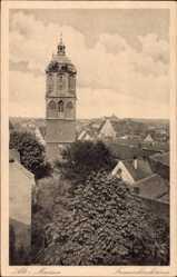 Ansichtskarte / Postkarte Alt Meißen, Blick über die Dächer der Stadt, Frauenkirchturm