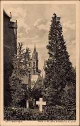 Ansichtskarte / Postkarte Meißen in Sachsen, Blick vom St. Afra Friedhof auf den Dom