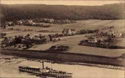 Ansichtskarte / Postkarte Diesbar Seußlitz Landkreis Meißen, Salondampfer, Ort am Golkwalde