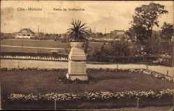 Postcard Köln Mülheim am Rhein, Partie im Stadtgarten, Ortschaft