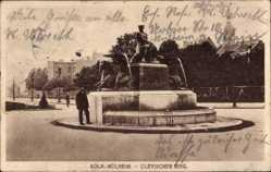 Postcard Köln Mülheim am Rhein, Brunnen, Clevischer Ring