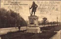 Postcard Köln Mülheim am Rhein, Bergischer Ring mit Johann Wilhelm Denkmal
