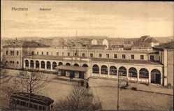 Postcard Pforzheim Schwarzwald, Blick auf den Bahnhof, Straßenseite, Straßenbahn