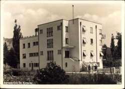 Postcard Bad Mergentheim, Blick auf das Sanatorium, Dr. Ketterer, Fenster