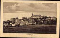 Postcard Böblingen in Baden Württemberg, Blick vom Feld auf den Ort
