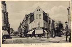 Postcard Osterfeld Oberhausen Nordrhein Westfalen, Markt- und Schulenstraße, Geschäft