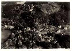 Postcard Bad Neustadt an der Saale Unterfranken, Fliegeraufnahme vom Ort