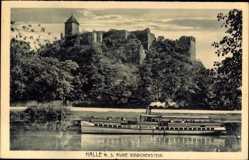 Postcard Halle an der Saale, Giebichenstein, Elbdampfer Siegfried