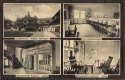 Postcard Bad Salzungen im Wartburgkreis, Gradierwerk, Einzelinhalatorium