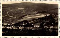 Postcard Bad Orb im Main Kinzig Kreis Hessen, Villenviertel, Felder, Wald