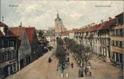 Postcard Ansbach in Mittelfranken Bayern, Blick in die Maximilianstraße, Rathaus