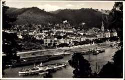 Postcard Bad Schandau an der Elbe,Sächsisch Böhmische Dampfschifffahrt,Dampfer Dresden