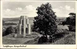 Postcard Treuchtlingen im Altmühltal Mittelfranken, Blick auf das Kriegerdenkmal