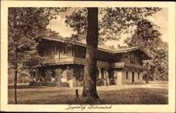 Postcard Joachimsthal Landkreis Barnim, Jagdschloss Hubertusstock, Rankenbewuchs