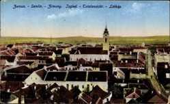 Postcard Zemun Zimony Zemlin Belgrad Serbien, Totalansicht der Stadt, Kirchturm