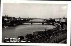 Foto Ak Pernambuco Recife Brasilien, Rio Capibaribe, Fluss, Brücken