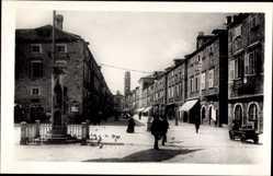 Postcard Dubrovnik Kroatien, Placa Kralja Petra, König Peter Platz