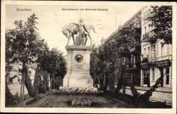 Ak Grudziądz Graudenz Westpreußen, Getreidemarkt mit Bismarckdenkmal