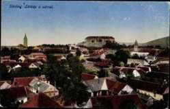 Postcard Siklós Sieglos Ungarn, Totalansicht, Hausdächer, Burg