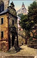 Postcard Marburg an der Lahn, Blick auf die Lutherische Kirche und das Schloss