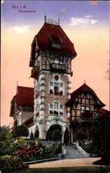 Postcard Hof an der Saale Oberfranken Bayern, Theresienstein, Aussichtsturm