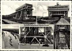Postcard Niederfinow Kreis Barnim, Schiffshebewerk, Trog, Inneres des Werks