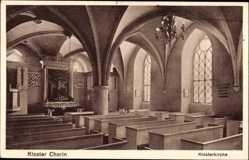 Postcard Chorin im Kreis Barnim, Innenansicht der Kirche des Klosters