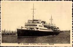 Postcard Ostende Westflandern, La Malle Prince Baudoin, Fährschiff