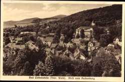 Postcard Bad Liebenstein im Wartburgkreis, Blick vom Aschenberg