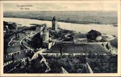 Postcard Tangermünde in Sachsen Anhalt, Ansicht der Burg von oben