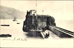 Postcard Insel Madeira Portugal, Festung im Wasser, Mole