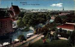 Ak Bydgoszcz Bromberg Westpreußen, Blick von der Danziger Brücke