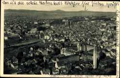 Postcard Wetzlar im Lahn Dill Kreis, Panoramablick auf die Stadt