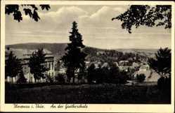 Postcard Ilmenau im Ilm Kreis Thüringen, Partie an der Goetheschule