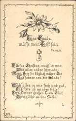 Künstler Ak Deine Gnade müsse mein Trost sein, Ps. 119, 76