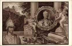 Künstler Ak Schulze,Kaiser Wilhelm II. v. Preußen,Kunst,Wissenschaft, Athena