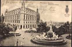 Postcard Buenos Aires Argentinien, Blick auf das Palace Hotel, Brunnen