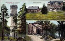 Postcard Ilmenau im Ilm Kreis Thüringen, Kickelhahn, Aussichtsturm, Kurhaus Gabelbach